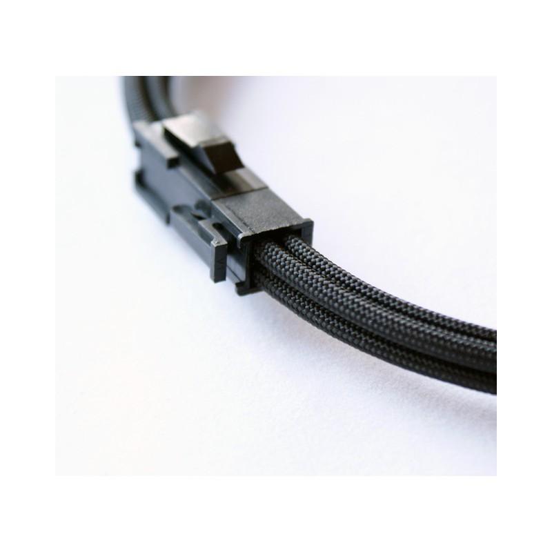 Przedłużka niebieska ATX 4 pin, 40 cm, Premium Sleeve