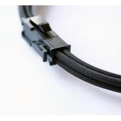 Przedłużka z żyłą niebieską ATX 4 pin, 40 cm, Premium Sleeve