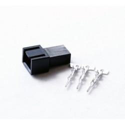Wtyczka wentylatora czarna męska 3 pin + piny