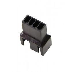 Wtyczka wentylatora czarna męska 3 + 1 pin + piny