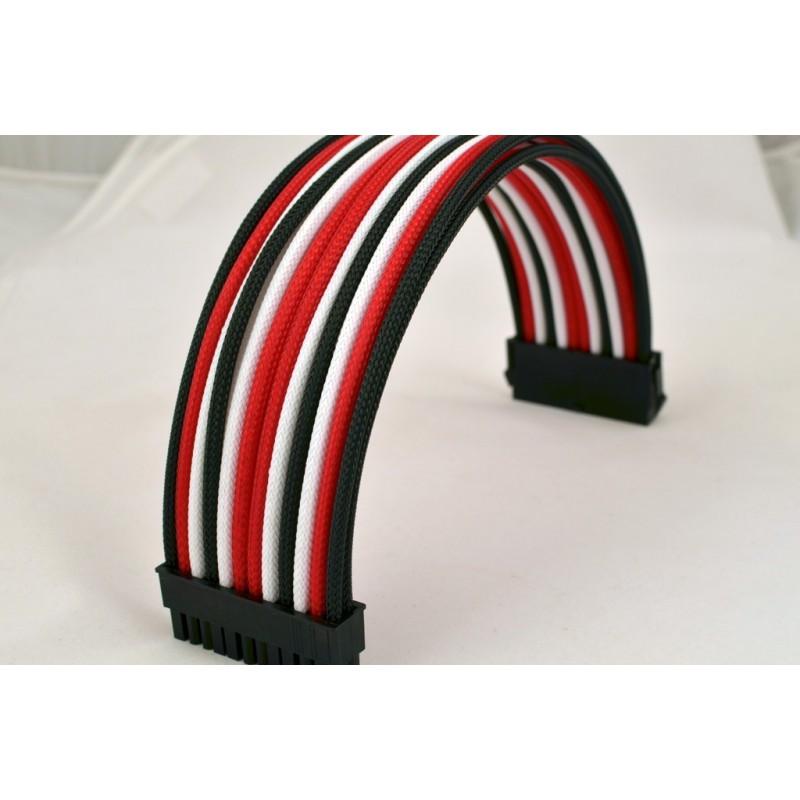 Przedłużka ATX 24 pin, 40 cm, Premium Sleeve