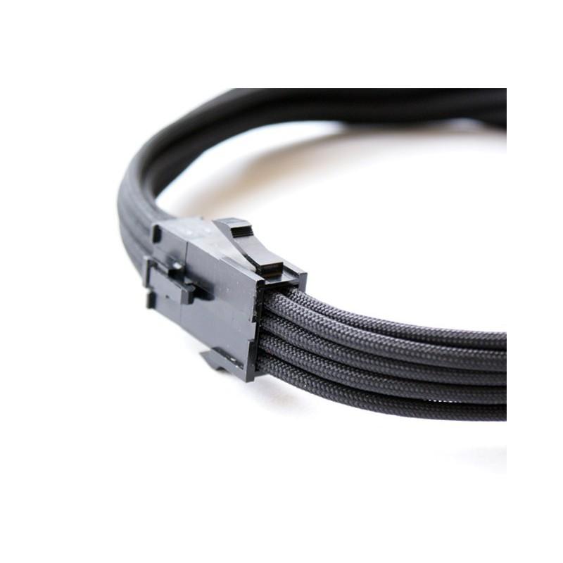 Przedłużka czarna EPS 8 pin, 40 cm, Premium Sleeve
