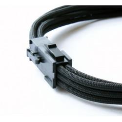 Przedłużka czarna VGA 6 pin, 40 cm, Premium Sleeve