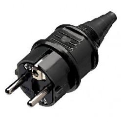 Plug IEC SCHUKO Mennekes black