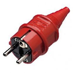 Wtyczka zasilająca PC czerwona IEC SCHUKO