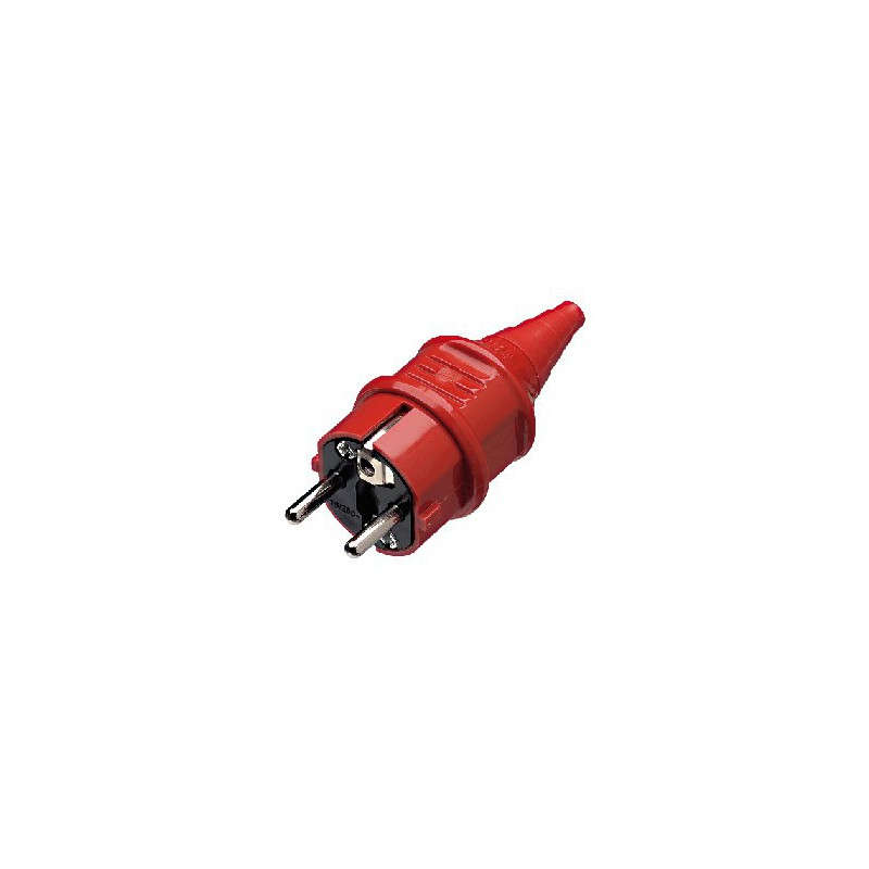 Plug IEC SCHUKO Mennekes red
