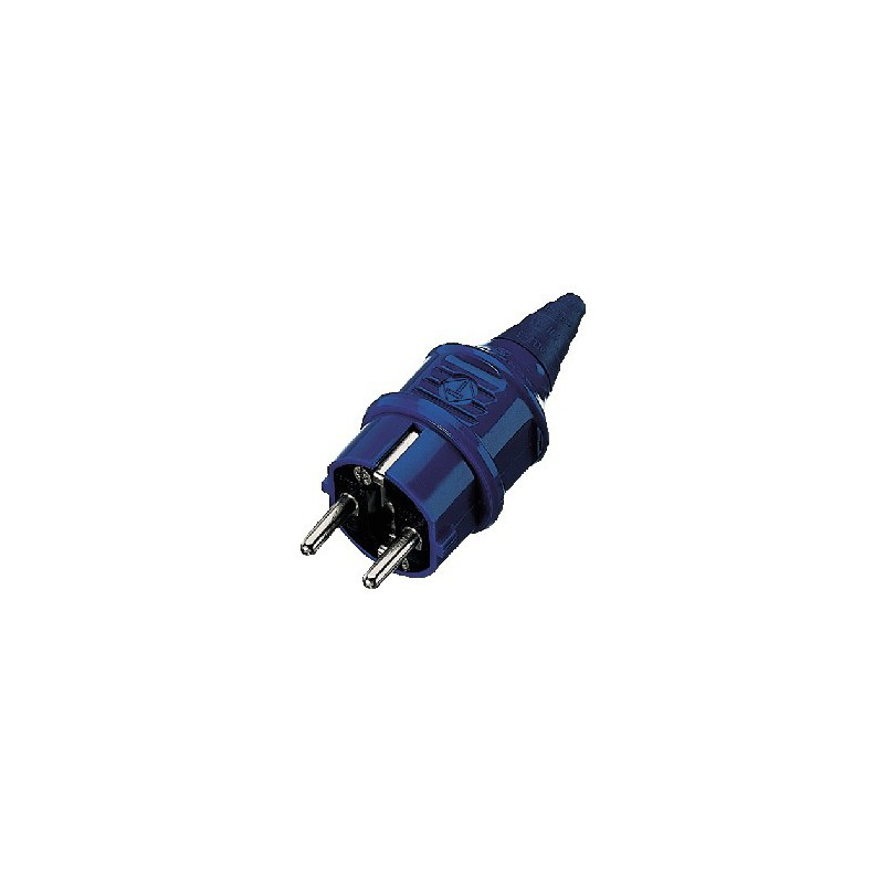 Plug IEC SCHUKO Mennekes blue