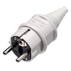 Wtyczka zasilająca PC biała IEC SCHUKO