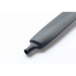 Heatshrink tubing 3:1 black - 12/4 mm