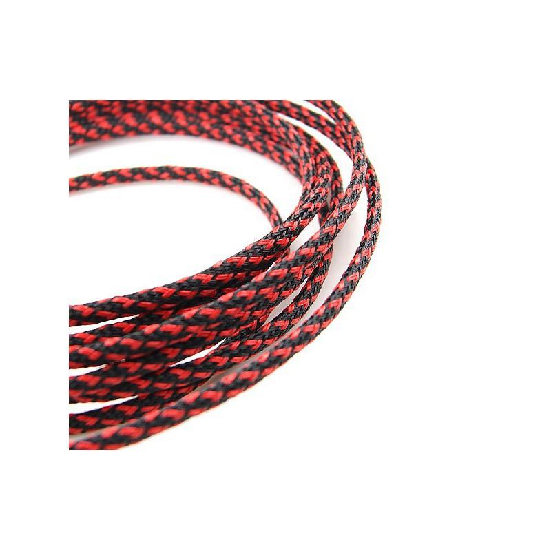 Sleeve black/red 4 mm