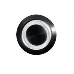 Przycisk 16 mm wandaloodporny niklowany czarny - podświetlanie led białe