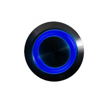 Push-button 16mm vandalism-proof nickel black - lighting led blue