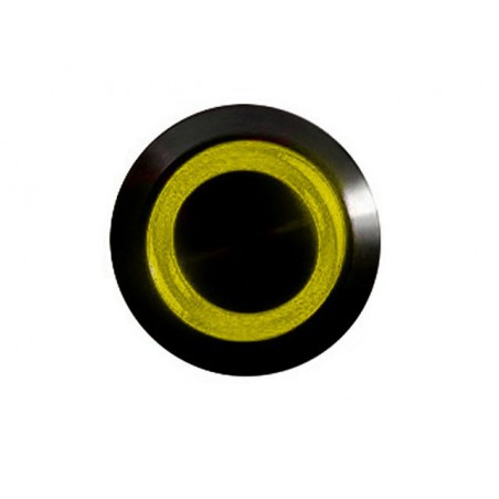 Push-button 16mm vandalism-proof nickel black - lighting led yellow