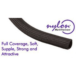 Techflex Nylon Multifilament black 3/16 ""
