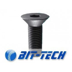 Countersunk screw black M2,5x06 socket allen