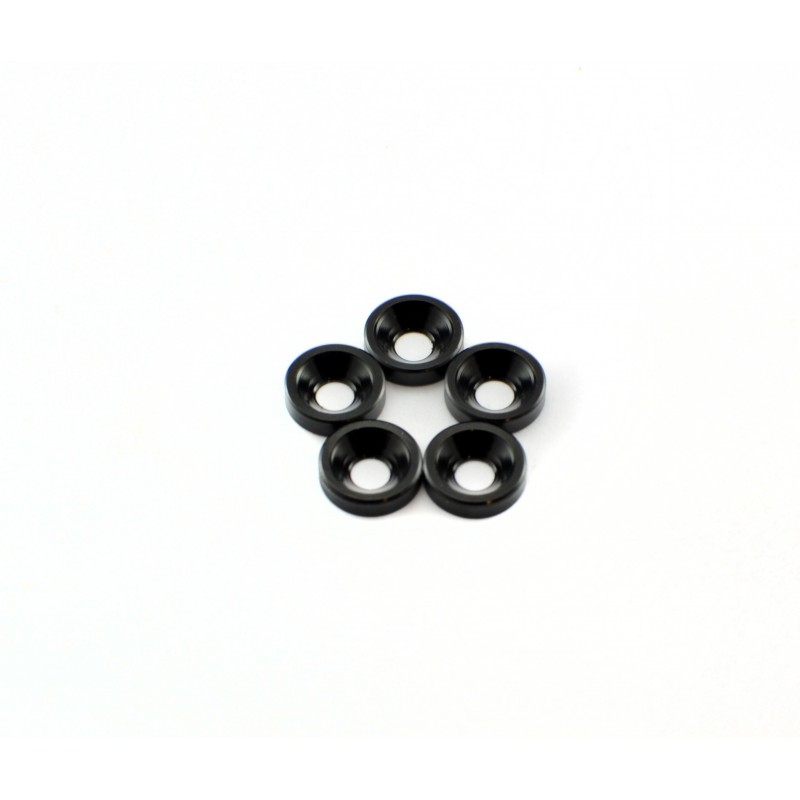 M3 ANODIZED COUNTERSUNK WASHERS BLACK