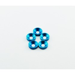 M3 ANODIZED COUNTERSUNK WASHERS BLUE