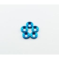 Podkładka stożkowa M3 - aluminium anodowane na niebiesko