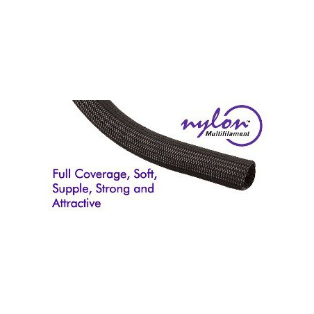 "Techflex Nylon Multifilament black 5/8 """