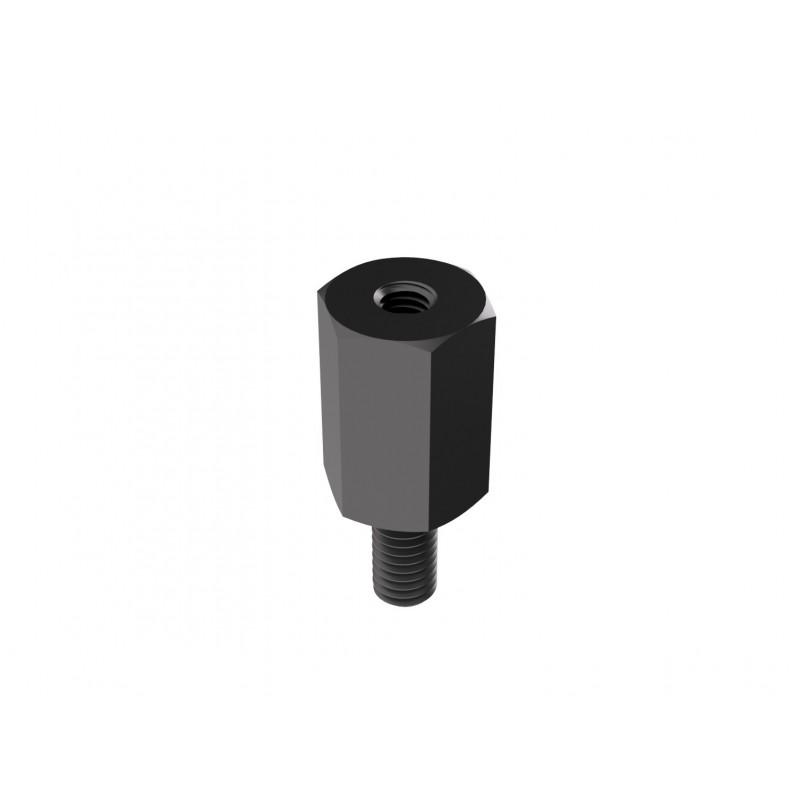 Screwed spacer sleeve black oxyde 3x12